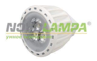 Светодиодная лампа MR11 4W30W-12V White. Фото
