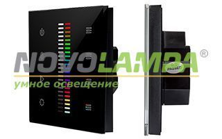 Панель Sens SR-2830C1-AC-RF-IN Black (220V,RGB+DIM,4зоны). Фото