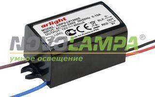 Блок питания ARPV-LV12005 (12V, 0.4A, 5W). Фото