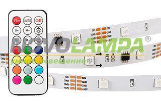 Лента SPI-5000-IR21B 12V RGB (5060,150 LED x3,1804, ПДУ). Фото
